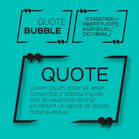 Citer bulle. Vide Citation zone de texte modèle. Citer vide. Banque d'images - 47540463