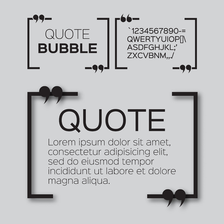 Quote bubble. Empty Citation text box template. Quote blank. Zdjęcie Seryjne - 47540466
