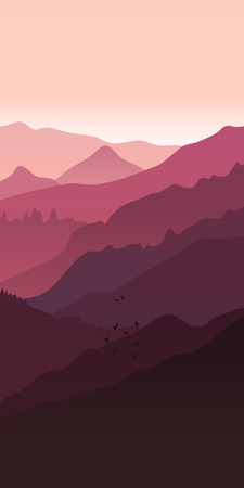 View of  red mountains. Mountain landscape.