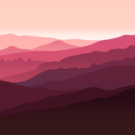 overlooking: View of  red mountains. Mountain landscape.