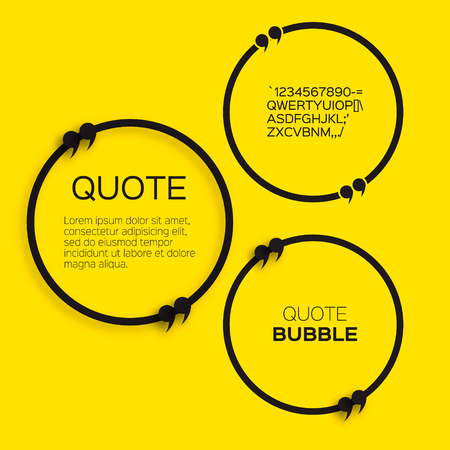 text box: Quote bubble. Speech bubble. Citation text box template. Quote blank. Illustration