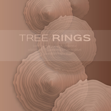 tree rings: Tree rings with saw cut tree trunk