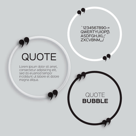 citation: Quote bubble. Speech bubble. Citation text box template. Quote blank. Illustration