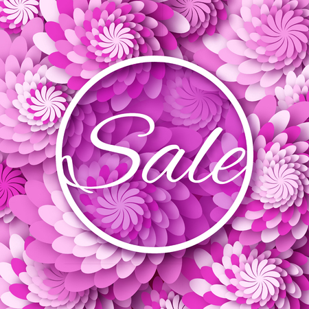 Abstract purple spring summer sale colorful banner for business abstract purple spring summer sale colorful banner for business applique card with origami flowers mightylinksfo