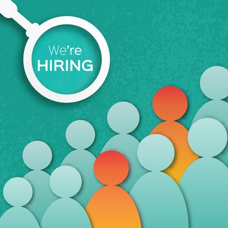 Het kiezen van de getalenteerde persoon voor hiring.HR werkzoekende concepts.The keuze van de meest geschikte werknemer