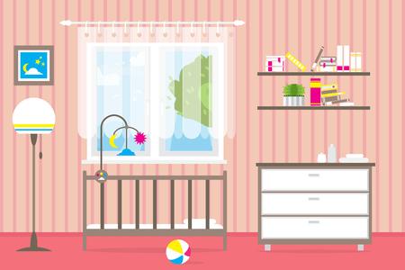 Dormitorio Infantil Interior Para Niño. Habitación Del Bebé Pirata ...