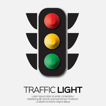 stop and go light: Traffic light. Origami Red, yellow, green lights - Go, wait or slow, stop. Paper cut International Traffic Lights Day. Applique Vector design illustrations.