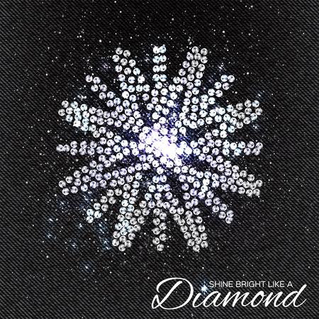 rhinestones: Brilliant stones Snowflakes pattern on black Denim Texture. Beautiful jewelry brooch. Ornament crystal precious, silver applique rhinestones, beadwork, embroidery. Fashion decor print. Illustration
