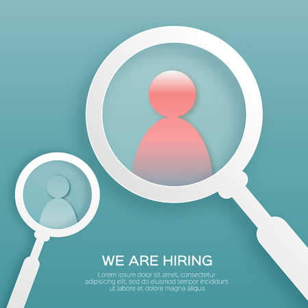 Find right person. Choosing the talented people for hiring.