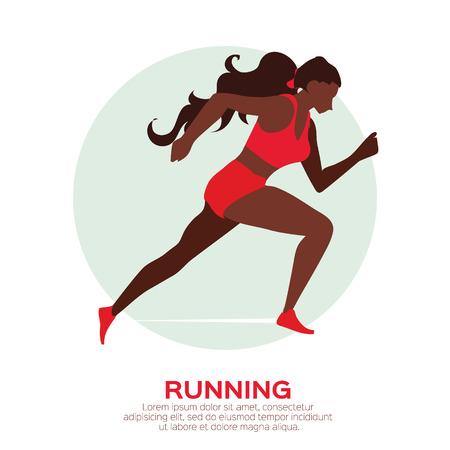 Woman running. Girl run, jogge. Sport