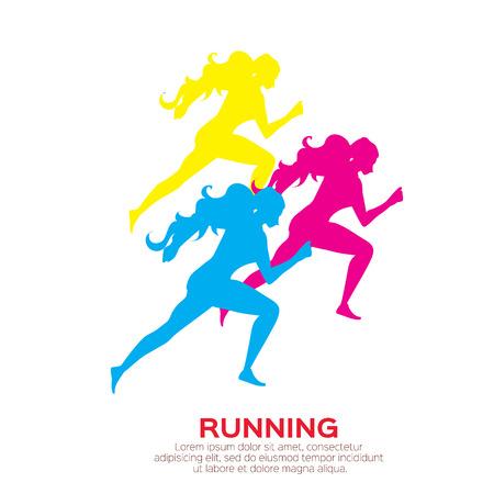 endurance: Woman running. Girl run, jogge. Sport