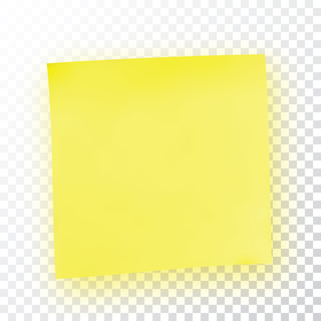 tack: Yellow sticky note. Template for your projects. Sticker