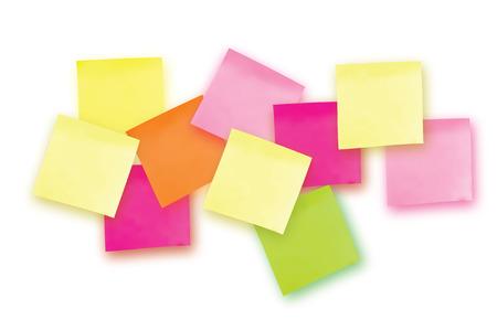 10 Kolorowe notatki. Szablon projektów. Dziesięć Naklejek