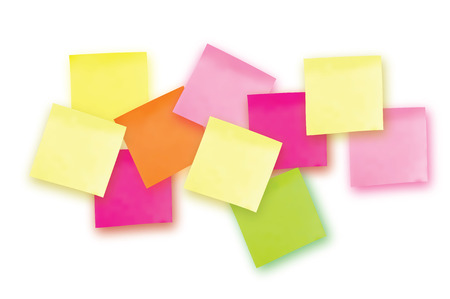 10 Colorful sticky note. Template for your projects. Ten Sticker