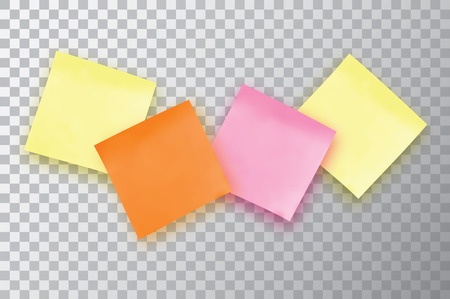 Four Colorful Sticky Note. Template For Your Projects. Royalty Free ...