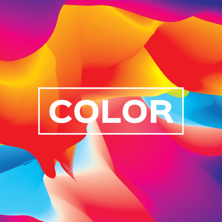 Abstract colorful poster. Wave shapes with space for text. Dynamic Effect. Vector design illustration. Modern Template. Illustration