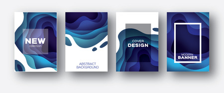 3D abstract background with paper cut shapes. .Layered tonnel wave background. Shadows box. Vector design layout for business presentations, flyers, posters