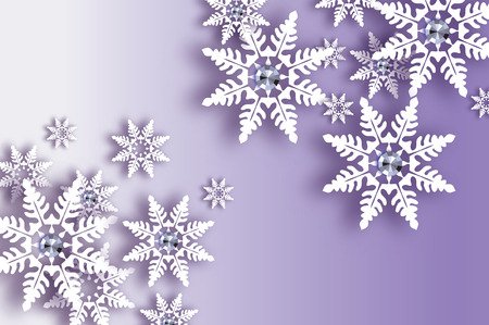 White Paper cut snow flake vector