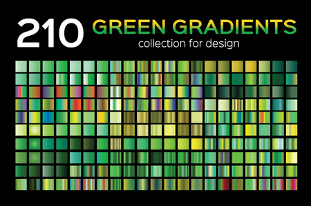 Mega Green Gradient Set. 210 Big Collection. Easy to use for Background, filling.