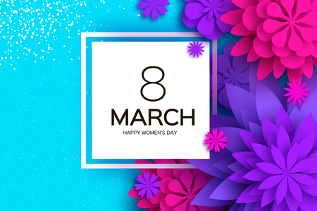 Women's Day Greetings card template vector design