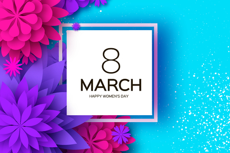 Womens Day Greetings card template 일러스트