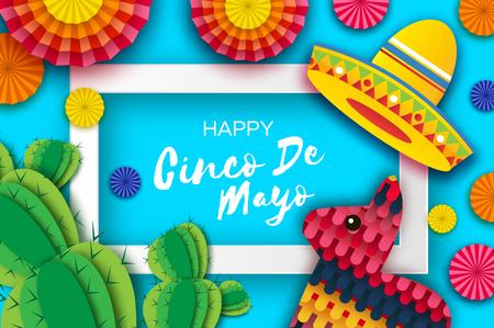 Szczęśliwy kartkę z życzeniami Cinco de Mayo.