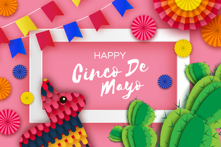 Happy Cinco de Mayo Greeting card.