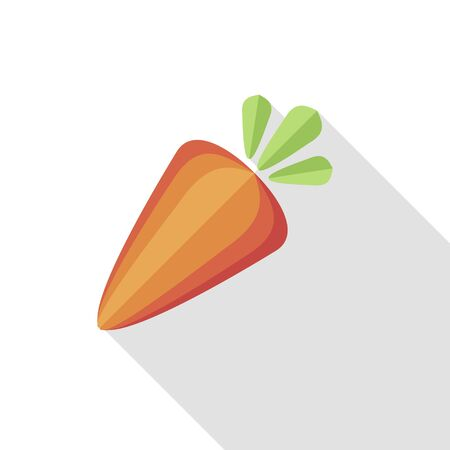 Carrot. Healthy tasty food. Orange Organic Fresh Vegetable. Vector
