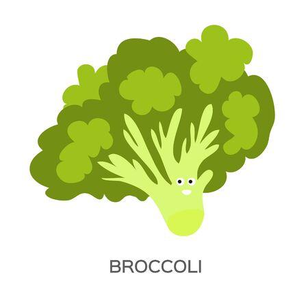 Broccoli. Healthy tasty food. Green Organic Fresh Vegetable. Ilustracja