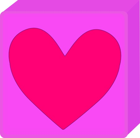 Pink Valentine Day Present with heart Vector