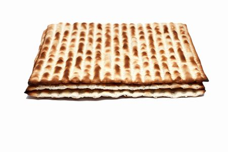 matzoh: Macro of Matzoh (matza), the jewish bread for passover.  Stock Photo