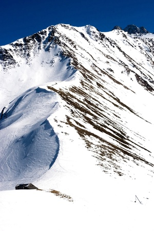 mountain winter view (Chamonix, France) Stock Photo - 9396480