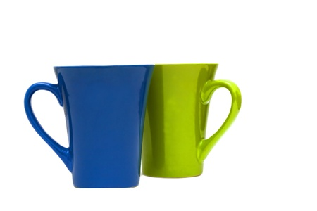 couple of cups isolated on white background.