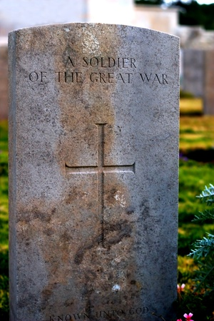 gravestone of soldier of the war. Editorial