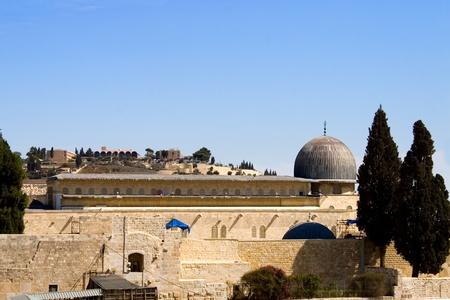 View of Al-aqsa Dome, Jerusalem, Israel  Stock Photo