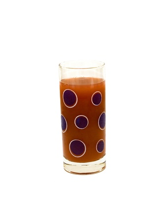 juice in glass ( isolated , vertical). Stock Photo