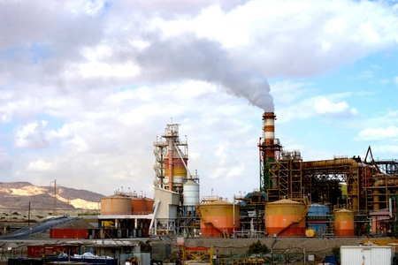 Horizontal View of Dead Sea Industry (outdoor)
