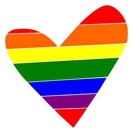 Rainbow heart Vector illustration pride love gay festival lesbian bsexual a sexual pan sexual transgender