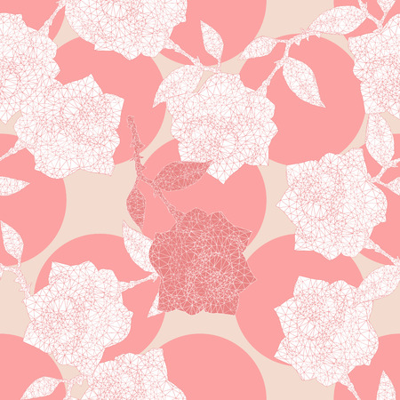 roses ornament in a linear triangular style Vector