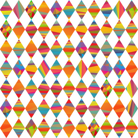 mummery: seamless pattern with colorfull rhombus different colors stripes Illustration