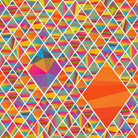 seamless pattern with colorfull rhombus different colors stripes Illustration