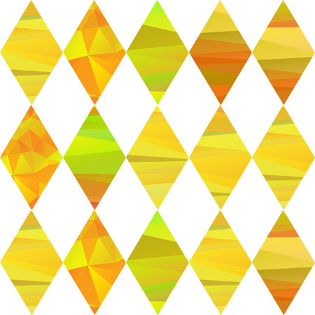 seamless pattern with colorfull rhombus  different forms yelow stripes Illustration