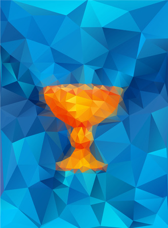baptism symbol in triangular style Ilustração