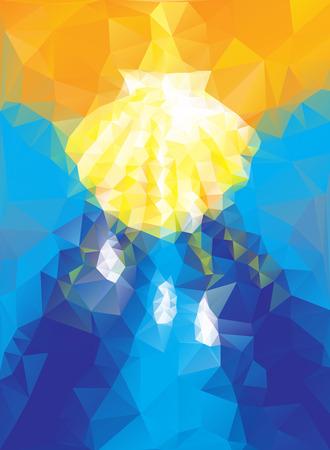bautismo: símbolo del bautismo en el estilo triangular