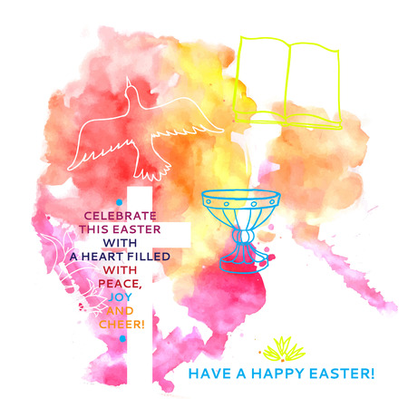 다채로운 추상적 인 backgroundcolorful 추상적 인 배경 행복 한 부활절 단어를 포함