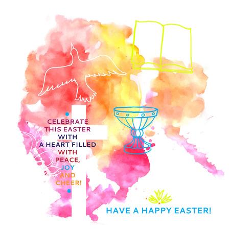 pasqua cristiana: colorato astratto backgroundColorful sfondo astratto include parole di Pasqua felice Vettoriali