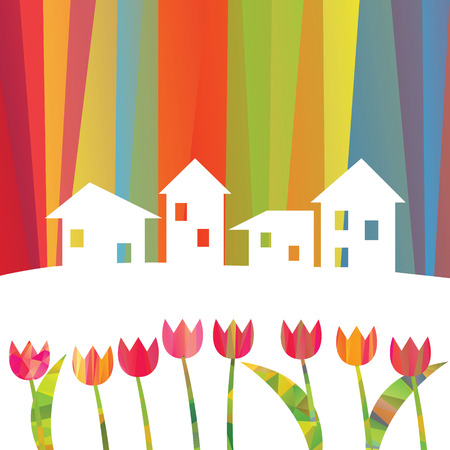 shack: houses and tulips