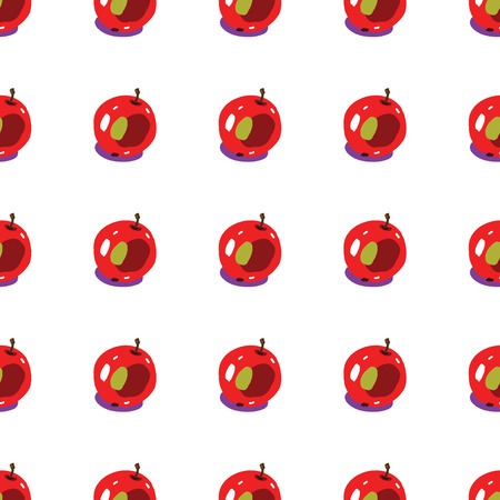 seamless backgrounds with apples in cartoon style photo