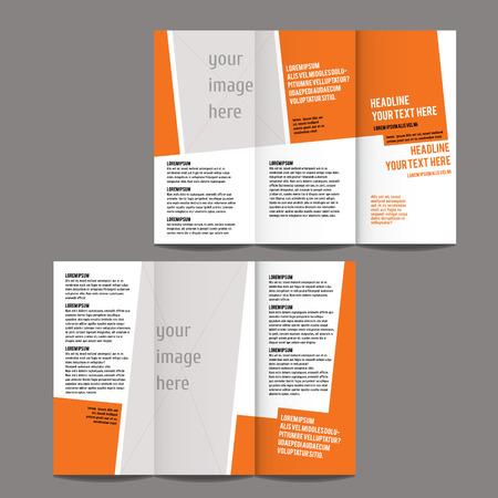 brochure design template vector driebladige geometrisch abstract