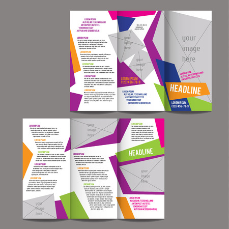 brochure design template vector trifold geometric abstract 版權商用圖片 - 39762800